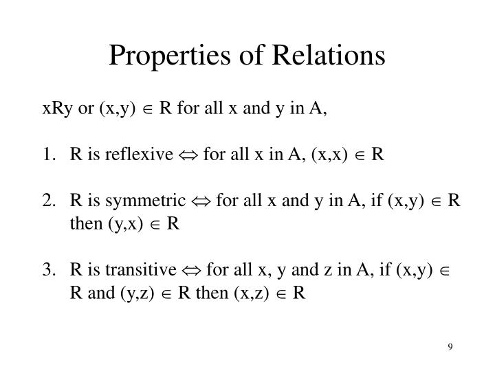 Properties of Relations