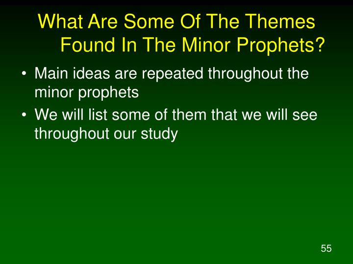 What Are Some Of The Themes Found In The Minor Prophets?