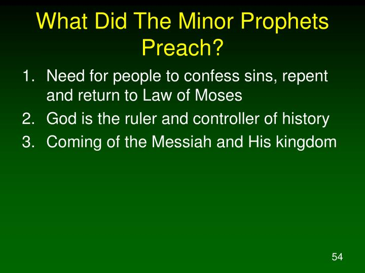What Did The Minor Prophets Preach?