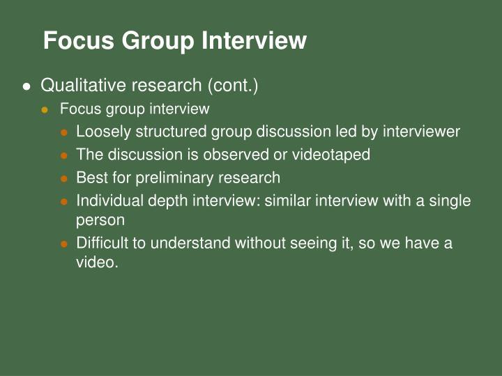 Qualitative research (cont.)