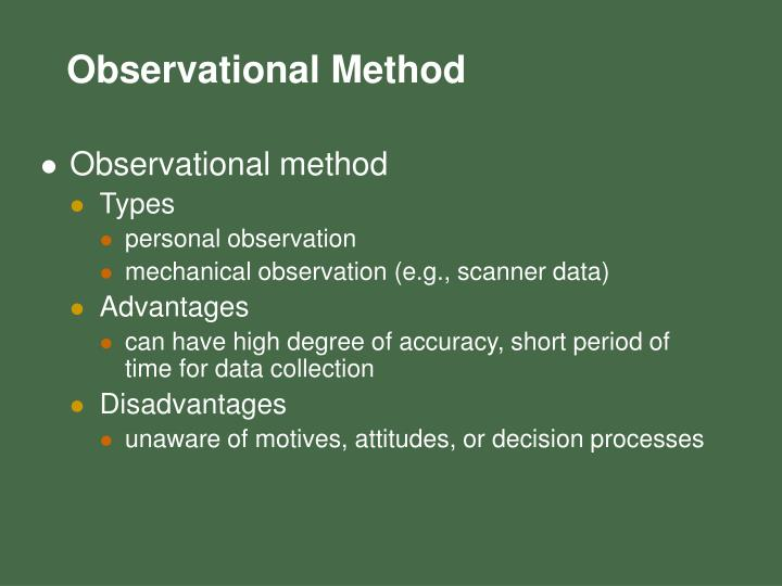 Observational method