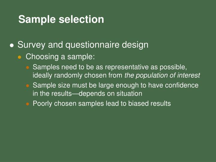 Survey and questionnaire design