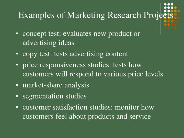 Examples of Marketing Research Projects