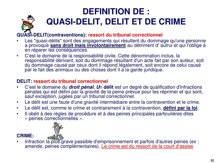 Ppt cours de droit des contrats powerpoint presentation for Definition delit