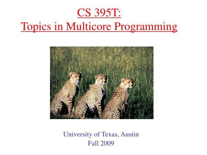 cs 395t topics in multicore programming