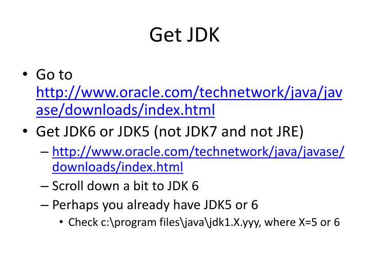 Get JDK