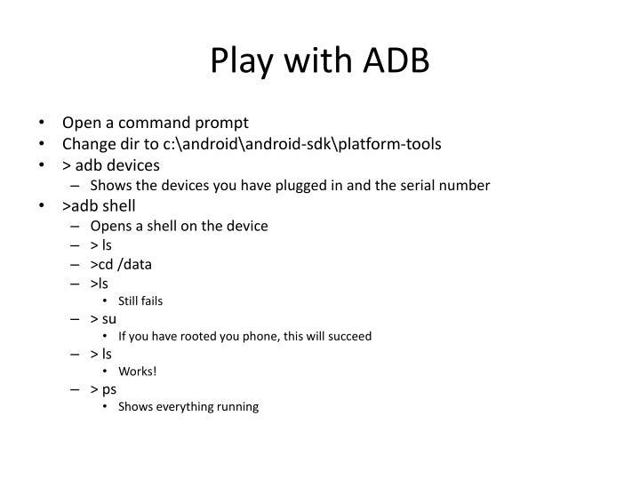 Play with ADB