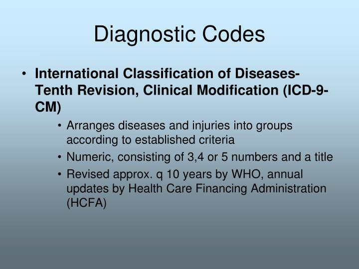 Diagnostic Codes