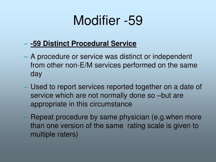 Modifier -59