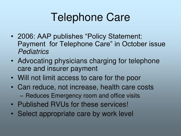 Telephone Care