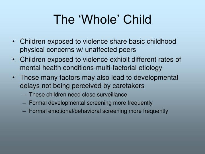 The 'Whole' Child
