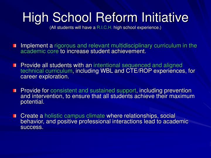 High School Reform Initiative