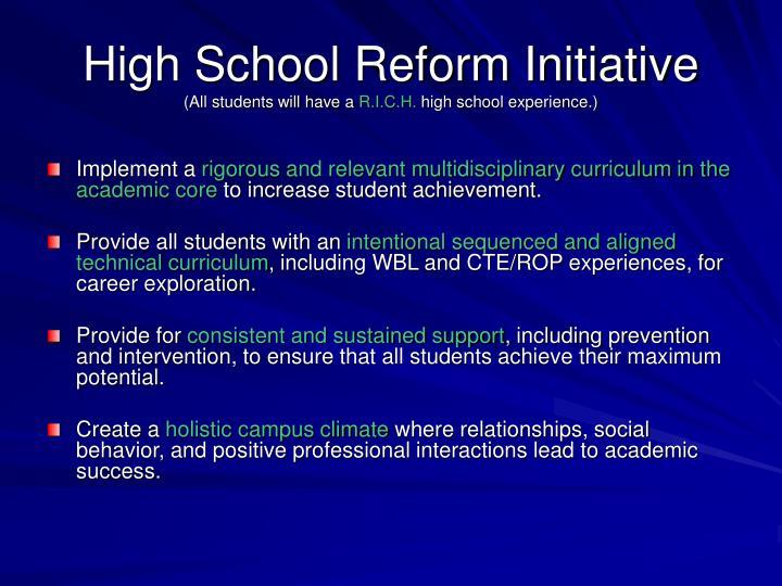 High School Reform Initiative