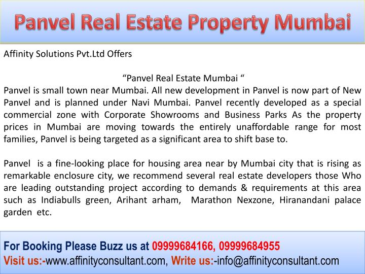 Panvel Real Estate Property Mumbai
