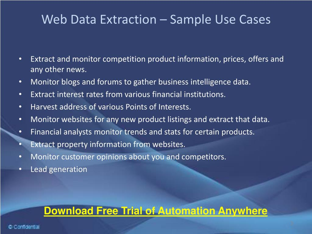 Web Data Extraction – Sample Use Cases