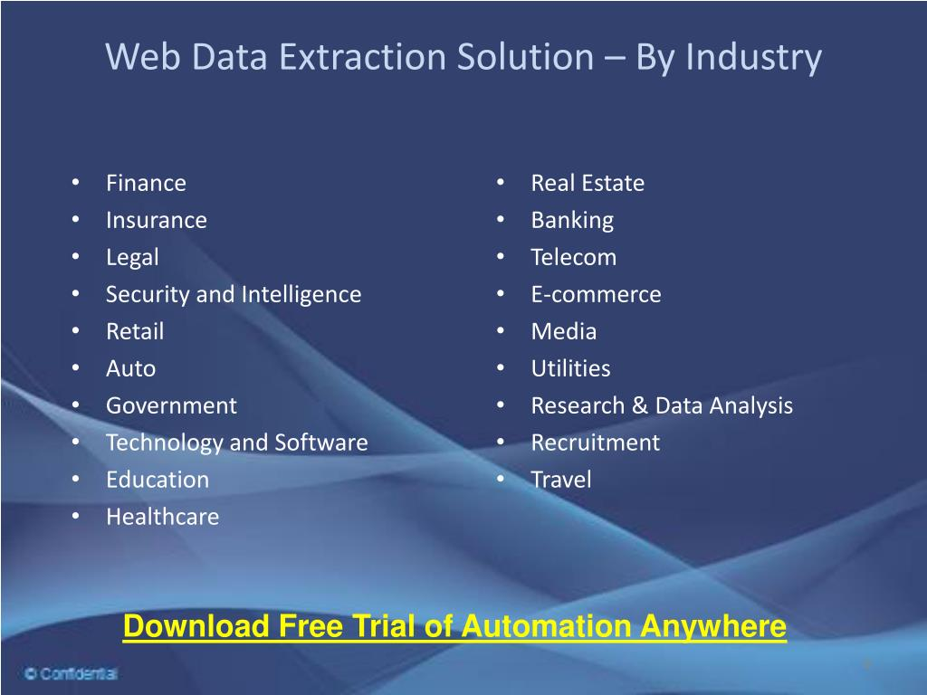 Web Data Extraction Solution – By Industry