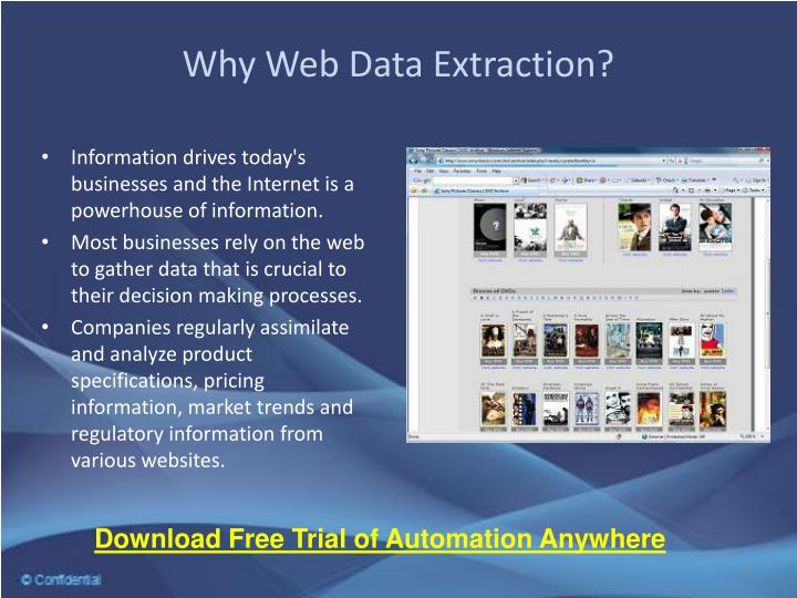 Why web data extraction