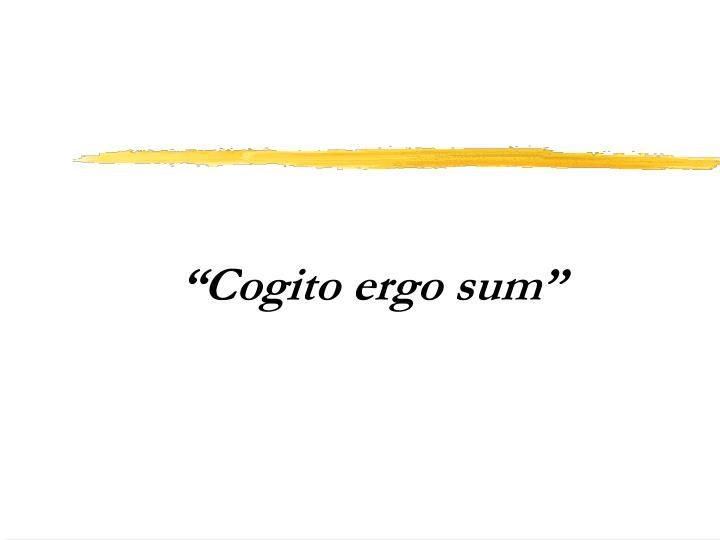 """""""Cogito ergo sum"""""""