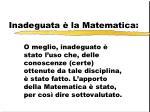 inadeguata la matematica