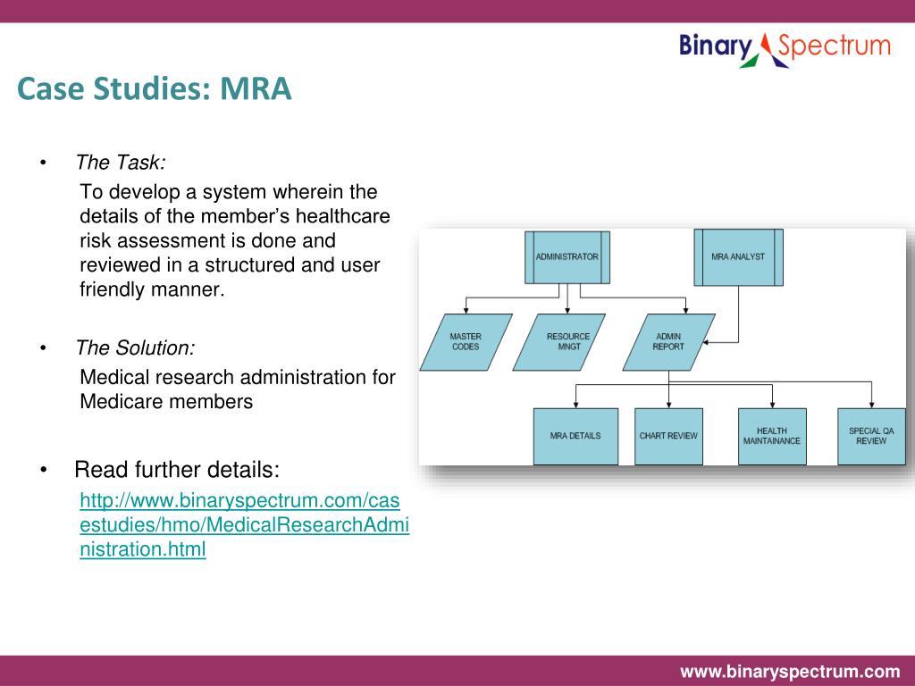 Case Studies: MRA