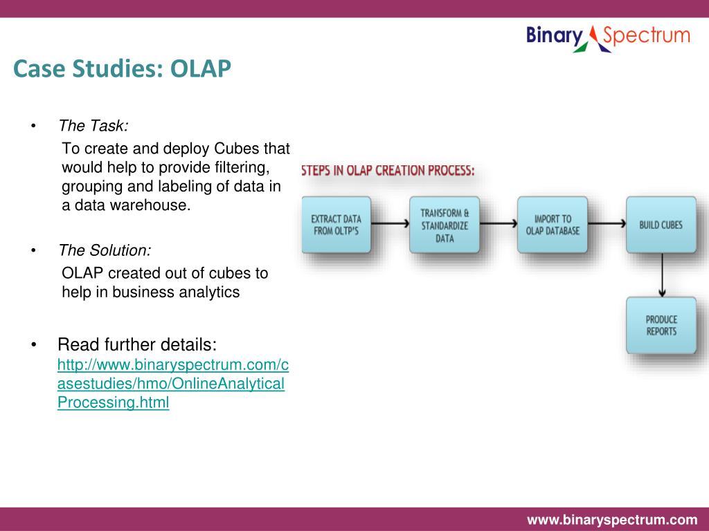 Case Studies: OLAP