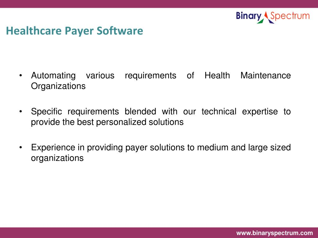 Healthcare Payer Software