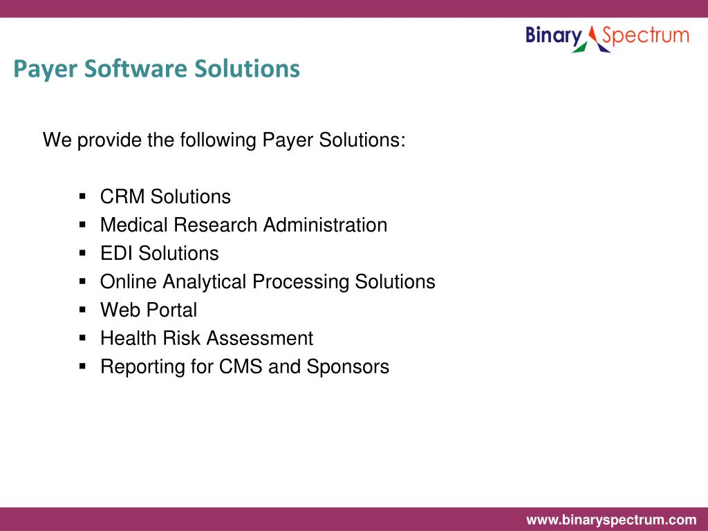 Payer Software Solutions