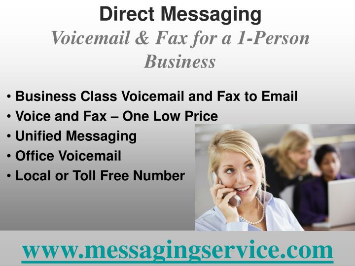 Direct messaging voicemail fax for a 1 person business l.jpg