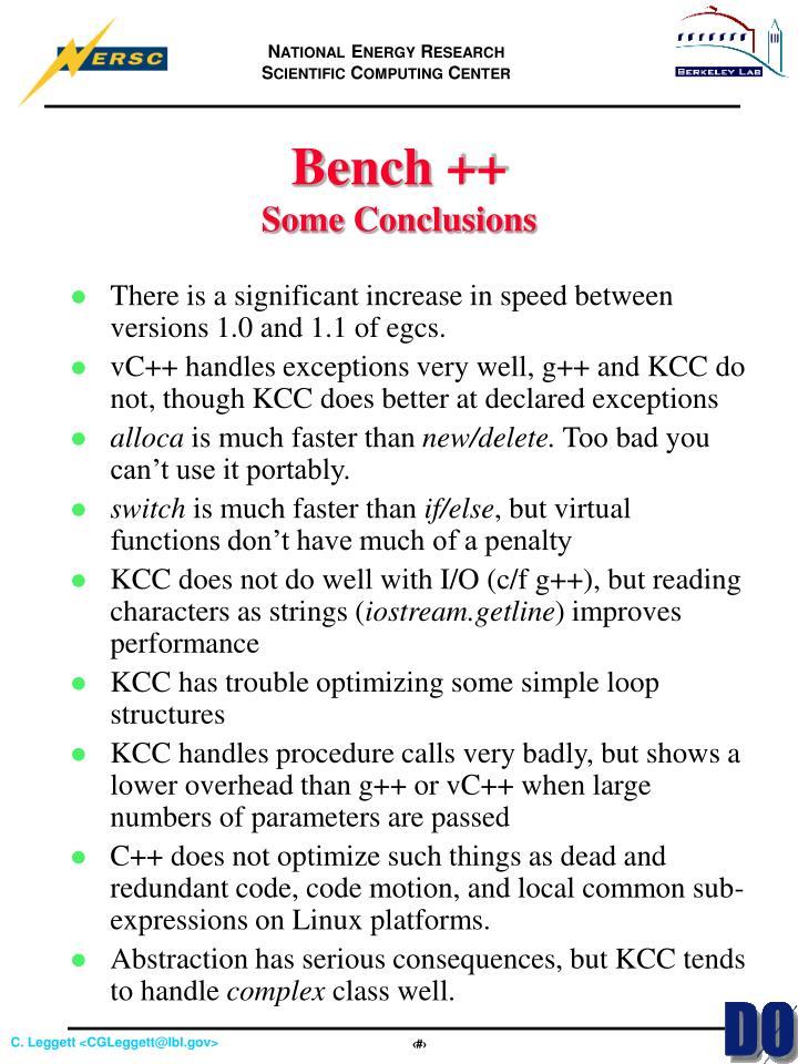 Bench ++