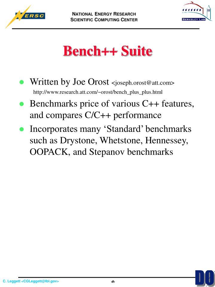 Bench++ Suite