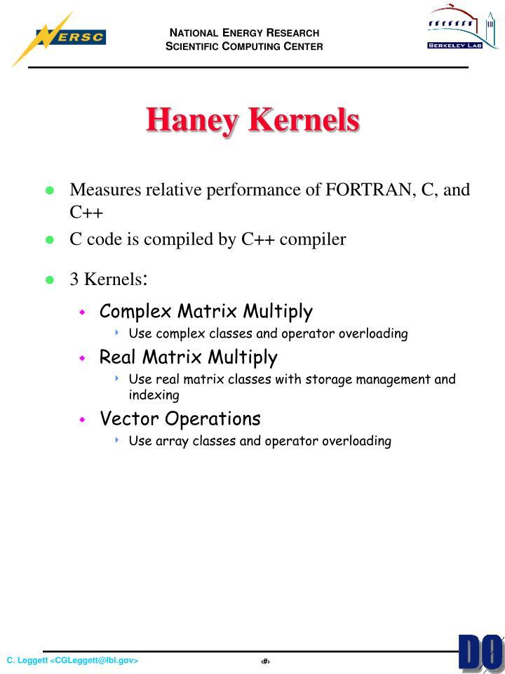 Haney Kernels