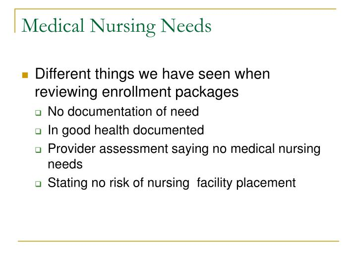 Medical nursing needs3