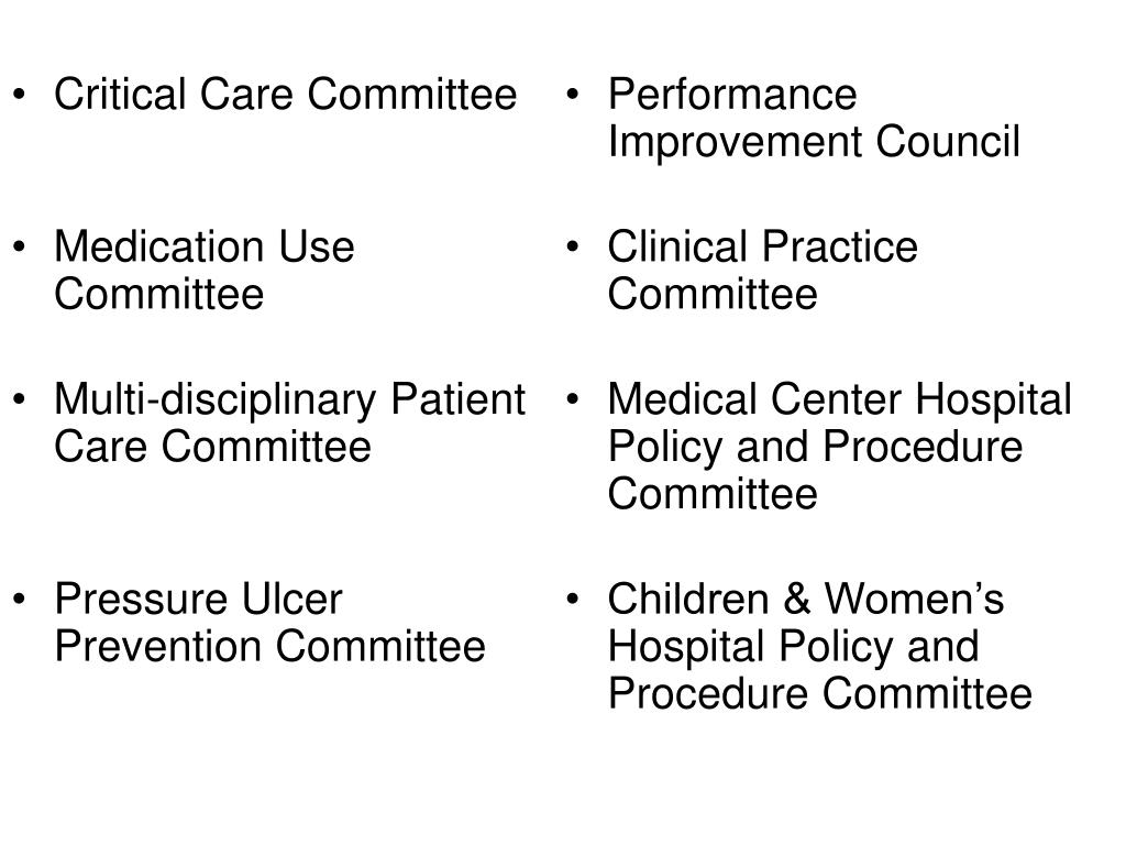 Critical Care Committee