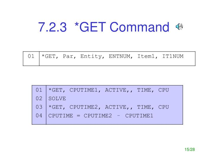 7.2.3  *GET Command