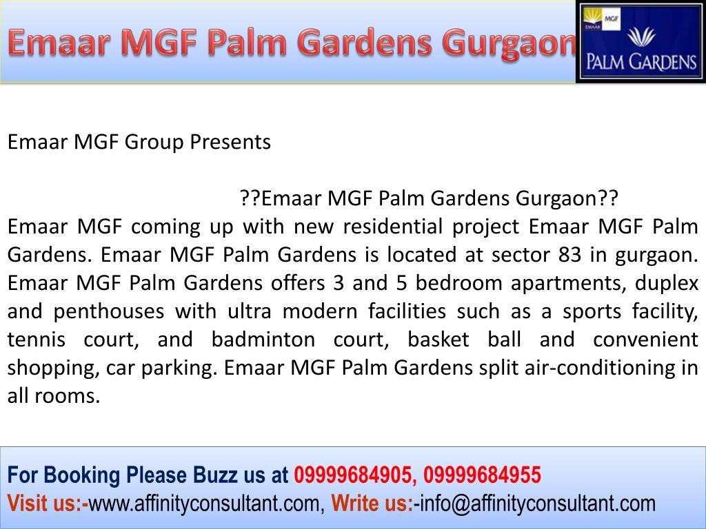 Emaar MGF Palm Gardens Gurgaon