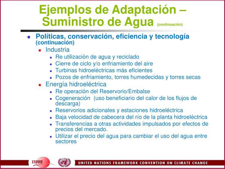 Ejemplos de Adaptacin