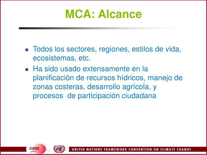 MCA: Alcance