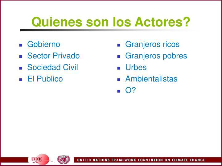 Quienes son los Actores?