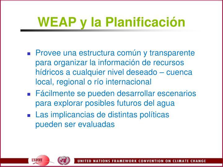 WEAP y la Planificacin
