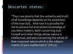 descartes states