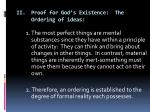 ii proof for god s existence the ordering of ideas1