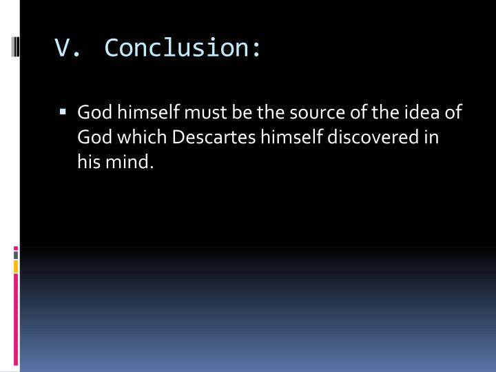 V.Conclusion: