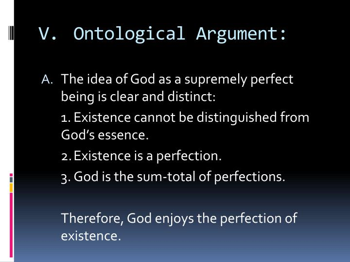 V.Ontological Argument: