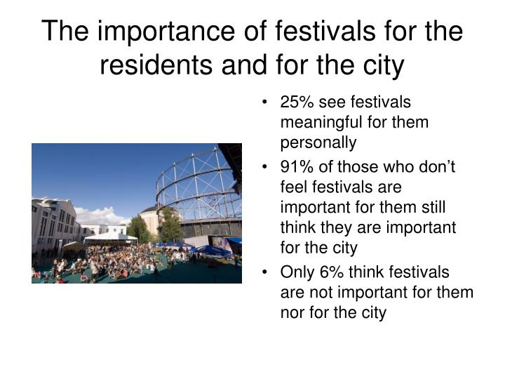 The importance of festivals for the residents and for the city