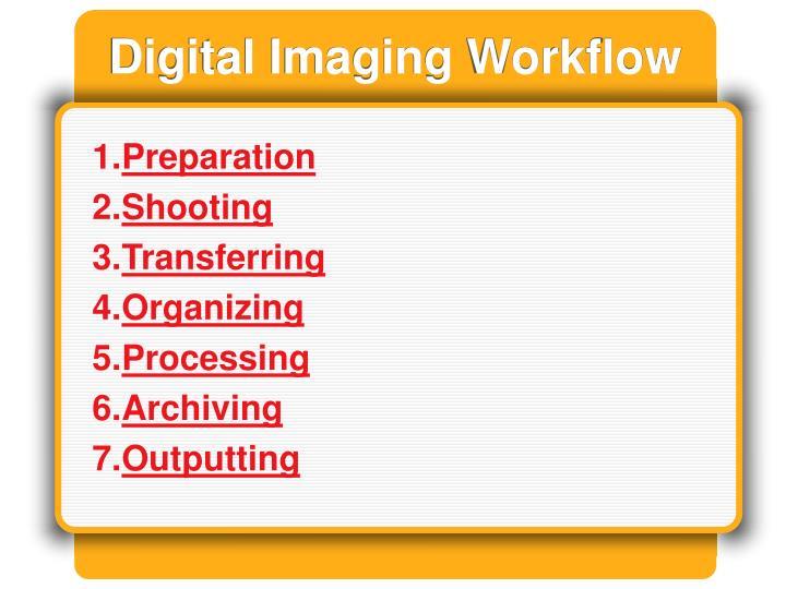 Digital Imaging Workflow
