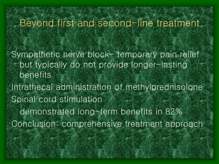Beyond first and second-line treatment