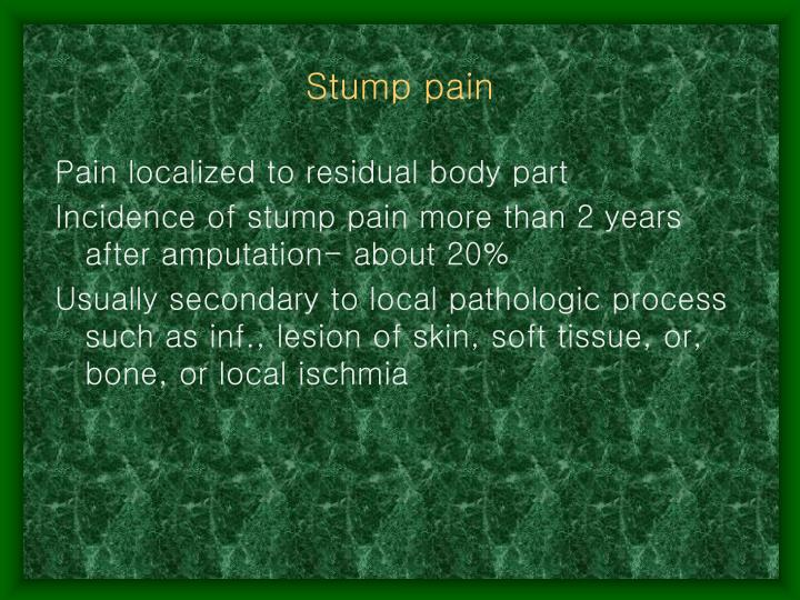 Stump pain