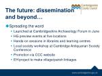 the future dissemination and beyond
