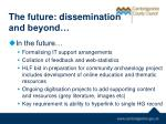 the future dissemination and beyond1