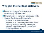 why join the heritage gateway